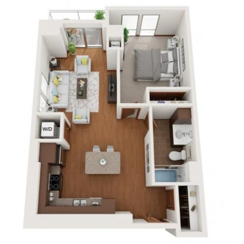 Floor Plan K | Domain | Apartments in Madison, WI