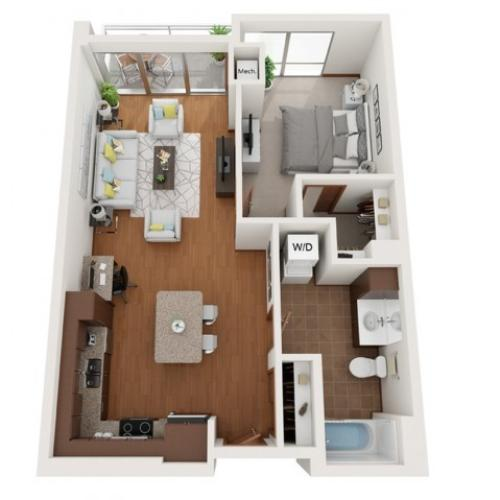 Floor Plan L | Domain | Apartments in Madison, WI