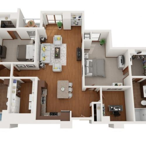 Floor Plan M | Domain | Apartments in Madison, WI