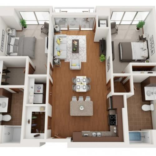 Floor Plan W | Domain | Apartments in Madison, WI