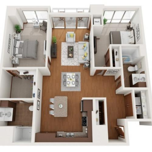 Floor Plan W1 | Domain | Apartments in Madison, WI