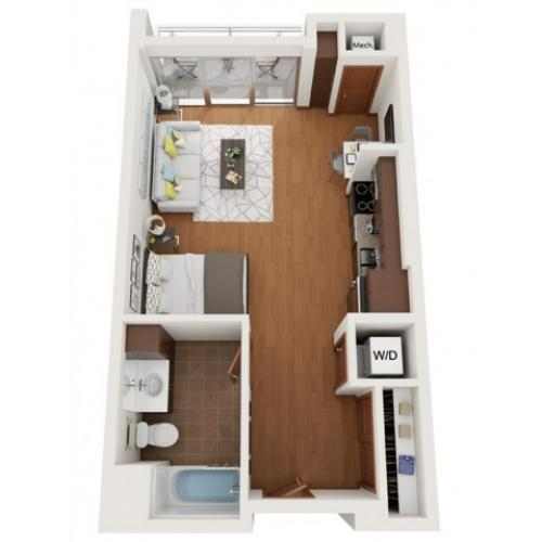 Floor Plan X | Domain | Apartments in Madison, WI