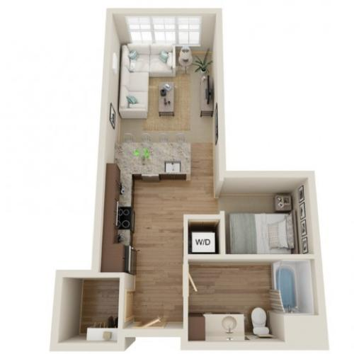 Floor Plan A1 | The Junction | Apartments in Menomonee Falls, WI