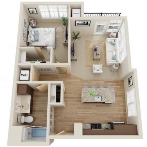 Floor Plan B2 | The Junction | Apartments in Menomonee Falls, WI