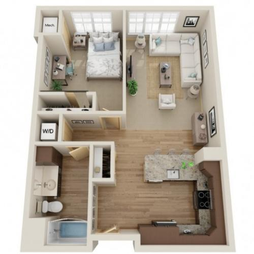 Floor Plan B3 | The Junction | Apartments in Menomonee Falls, WI