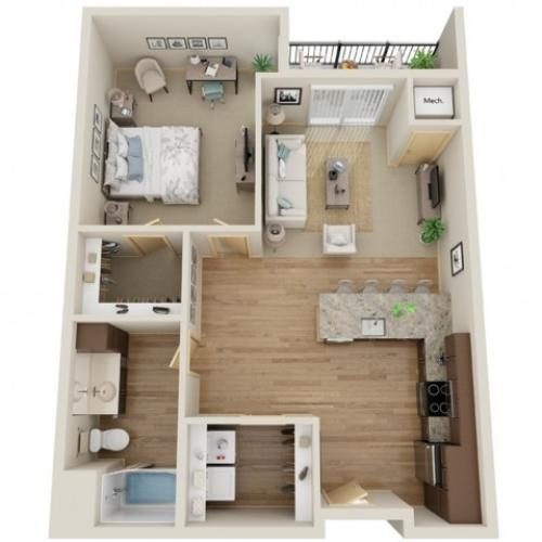 Floor Plan B5 | The Junction | Apartments in Menomonee Falls, WI