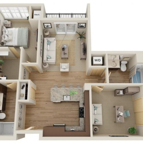 Floor Plan C3 | The Junction | Apartments in Menomonee Falls, WI