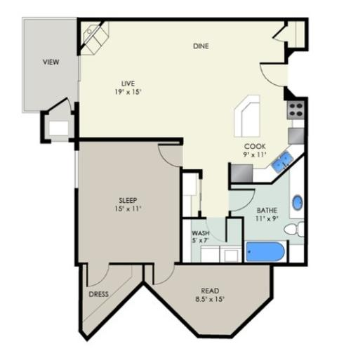 The Chamberlain I | The Landmark at Hatchery Hill | Apartments in Fitchburg, WI