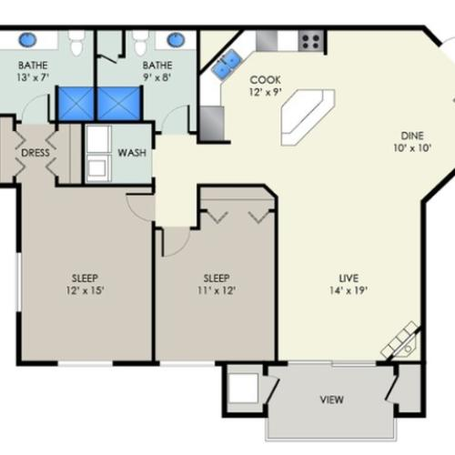 The Chadbourne I | The Landmark at Hatchery Hill | Apartments in Fitchburg, WI
