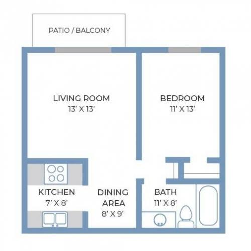 One Bedroom, One Bathroom | Fitchburg Square | Apartments in Fitchburg, WI