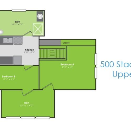 Floor Plan H | Apartments in Lafayette IN | Collegiate Communities