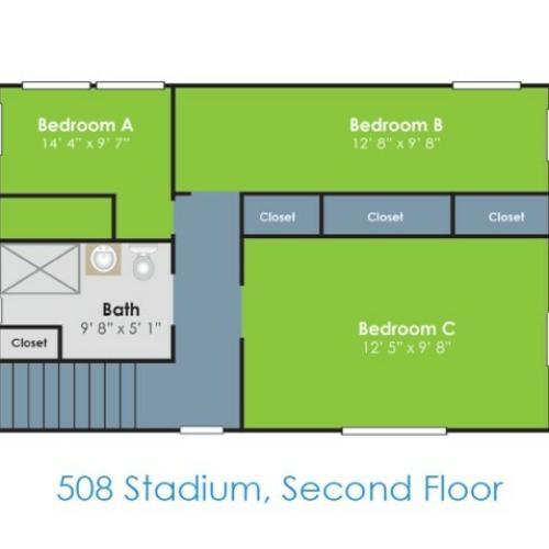 Floor Plan I | Apartments in Lafayette IN | Collegiate Communities