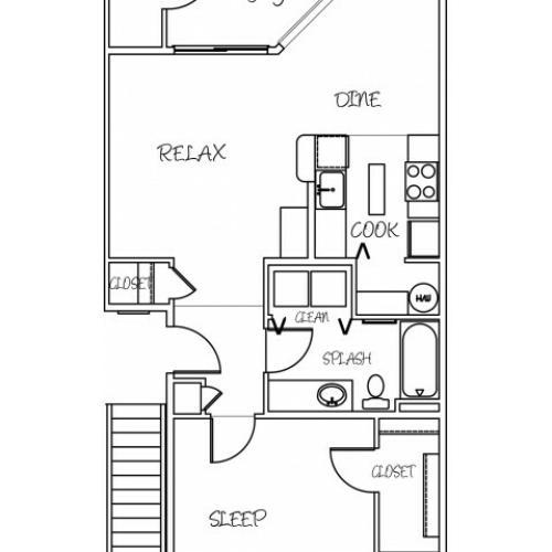 1 Bdrm Floor Plan 2 | Puyallup Wa | Silver Creek