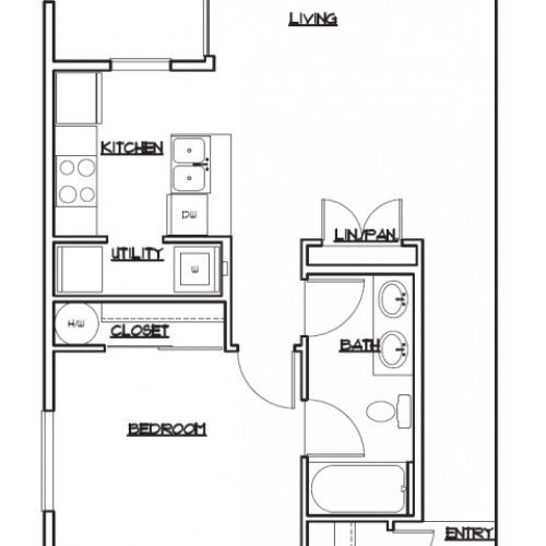 Floor Plan 1 | Luxury Apartments in Tacoma | 5100 Summit