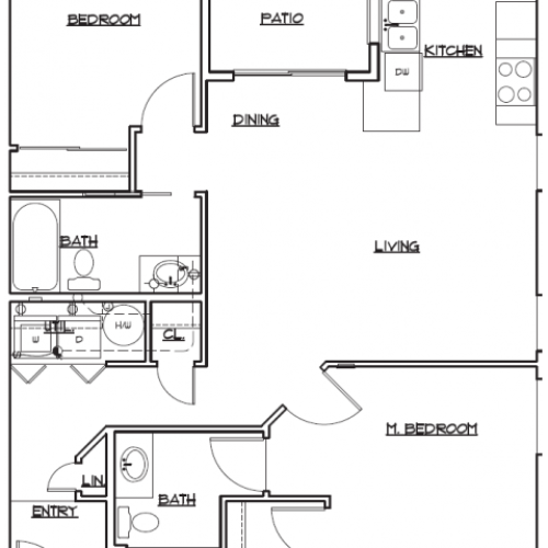 Floor Plan 3 | Tacoma Rentals | 5100 Summit