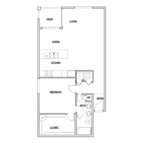 Floor Plan 2 | Tacoma Apartments | 5100 Summit