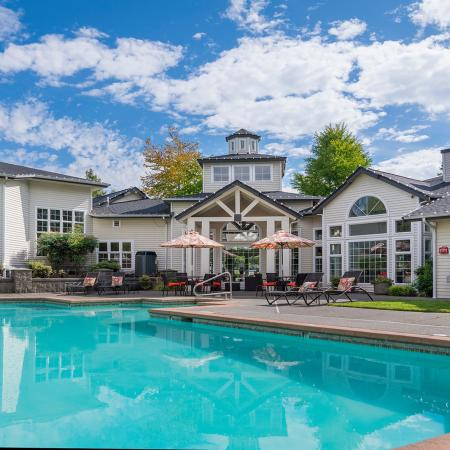 Canyon Park Swimming Pool | Puyallup WA Apartments For Rent | Canyon Park