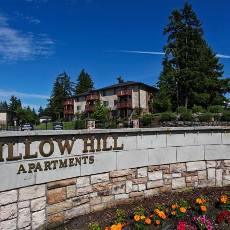 Community Sign Monument | Puyallup WA Apartments For Rent | Willow Hill Apartments