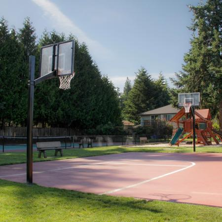 Community Basketball Court and Playground | Puyallup WA Apartments For Rent | Willow Hill