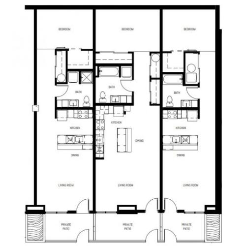 Deluxe Studio Apartments at 6Wood Flats in Lacey, WA