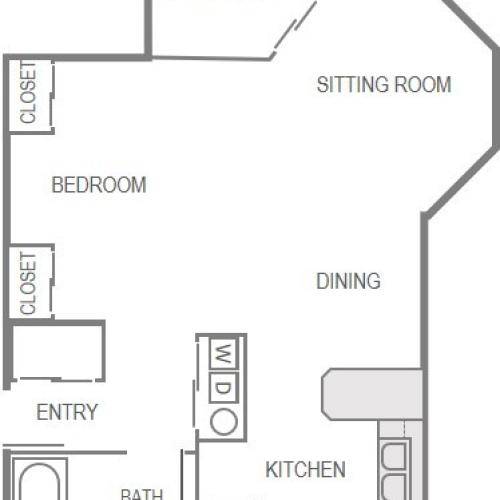 Nantucket Gate Apartment Layout- Studio