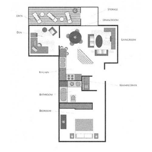 1x1 with Den Floorplan