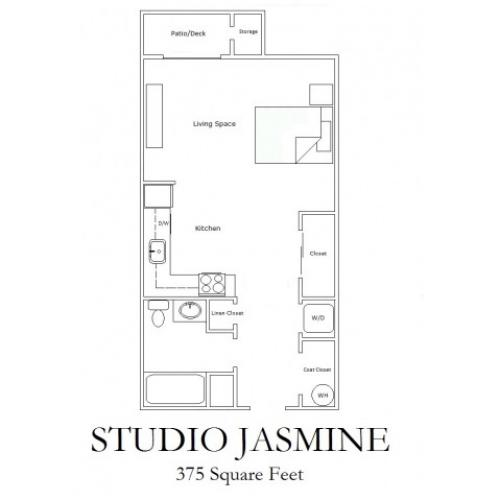 Studio Economy Floorplan