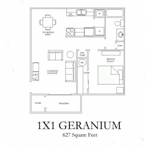 1x1 Economy Floorplan