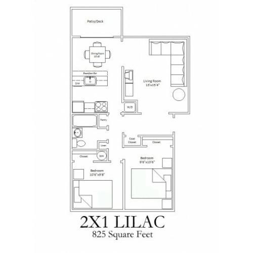 2x1 Standard Floorplan
