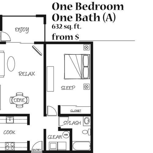 One Bedroom Apartment at the 4425