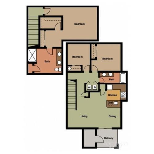 3 Bedroom 2 Bath w/Garage Townhome