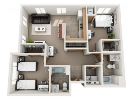 D (Full unit waitlist, roommate matches avail.)