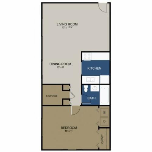 Floor Plan 2 | 3 Bedroom Apartments In Morrisville PA | Wellington Woods