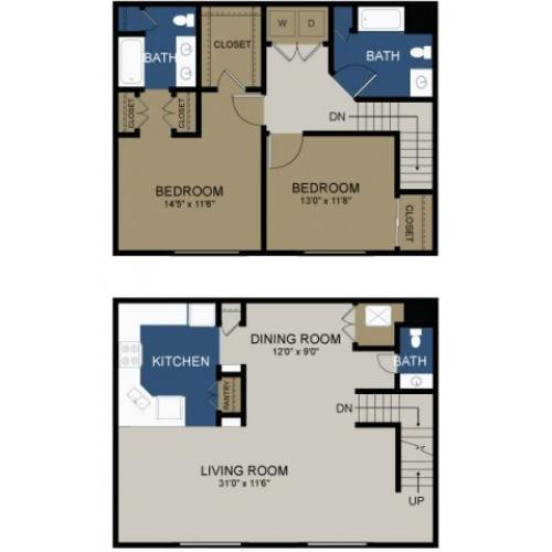 Spacious Floor Plans | Morrisville Apartments | The Commons at Fallsington