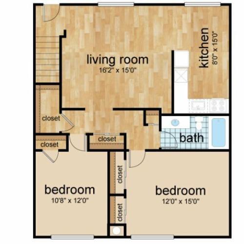 2 Bedroom Floor Plan | Apartments In Lumberton | Sterling Glen