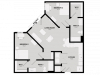 Floor Plan 4 | Tuscaloosa Off Campus Housing | 513 Rock Point