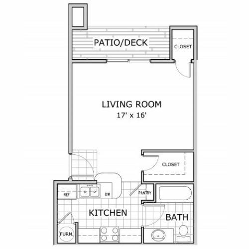 studio apartment at Watermill Park