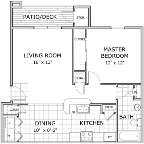 1 bedroom floor plan image