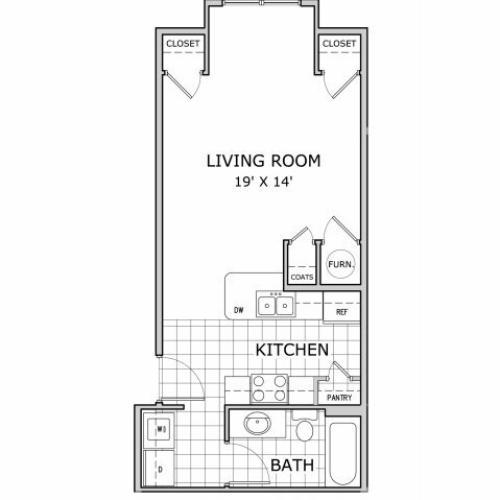 floor plan image for studio apartment