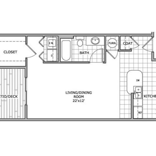 floor plan image for studio apartment home