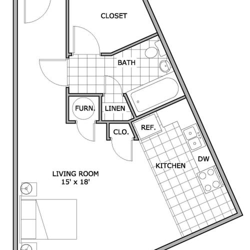 Studio Apartments | The Abbey