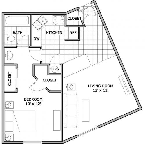 1 Bedroom | One Bedroom Apartment | The Abbey