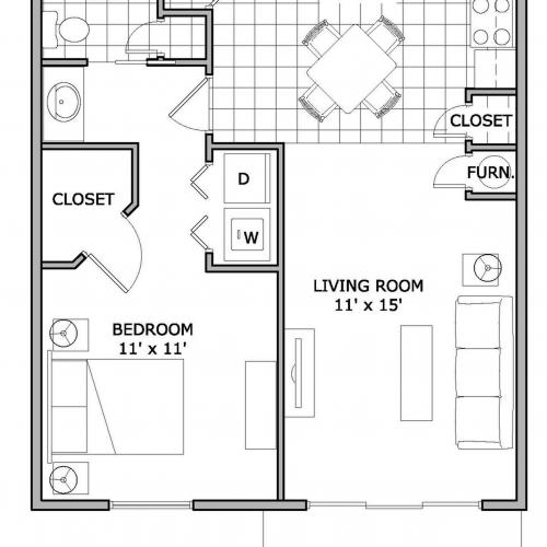 One bedroom apartment | springfield, mo