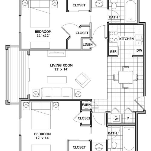 two bedroom | The Abbey