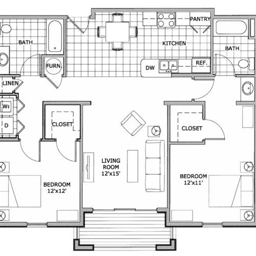 two bedroom| The Abbey | apartment