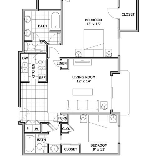two bedroom | pet friendly | The Abbey
