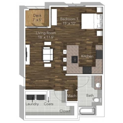 Studio Apartment at Verandas