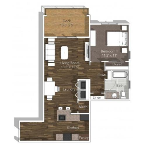 1 Bedroom Apartment at Verandas