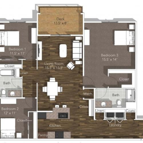 3 Bedroom Apartment at Verandas