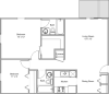 floor plan image for 2 bedroom apartment home